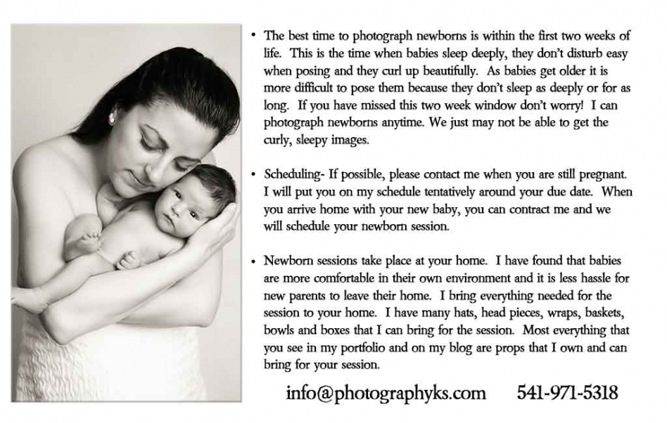 newborn session information