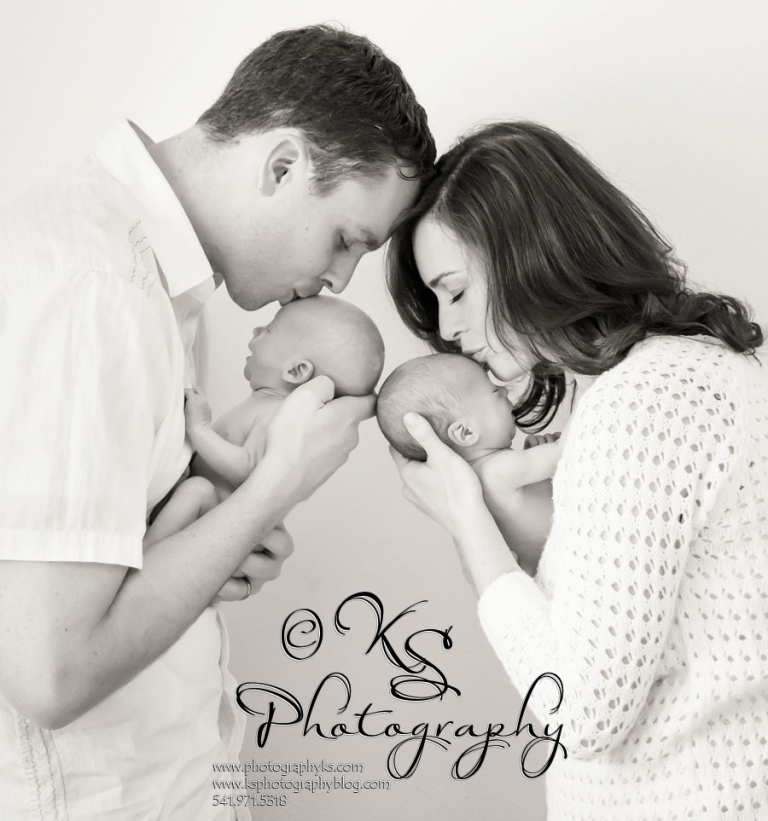 Corvallis Oregon Twin Newborn Photography